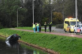 Auto te water in Purmerend