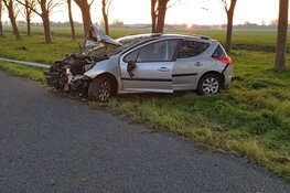 Ongeval op A7, auto total loss