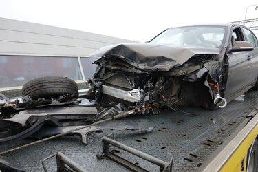 Auto crasht op A7