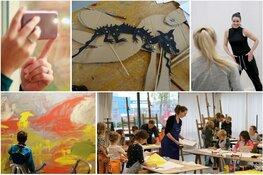 Kinderkunstmiddag met proeflessen kunst, fotografie en dans