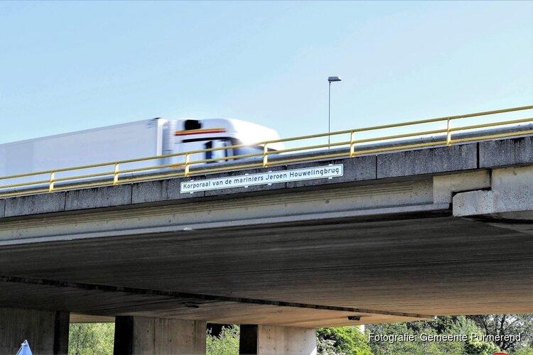 Purmerends viaduct vernoemd naar gesneuvelde marinier Jeroen Houweling