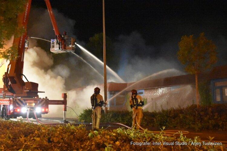 Grote brand in voormalig wijkcentrum