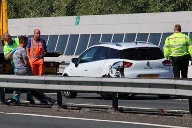 Ongeval op A7: vier auto's tegen elkaar