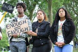 Antiracismeprotest in gemoedelijke sfeer