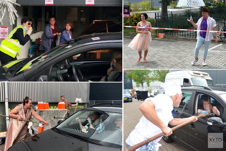 Cultuurhuis Wherelant sluit seizoen Theatergroep Flexibel af met een vrolijke Zuster Klivia Drive-in
