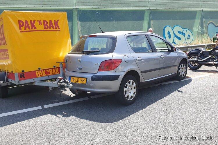 Ongeval op A7: motorrijder gewond