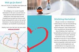 Ren mee van 24 t/m 31 oktober voor Stichting Hartekind