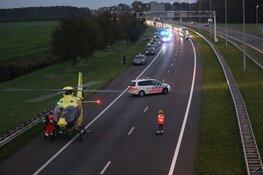 Traumaheli op snelweg A7: motorrijder naar ziekenhuis
