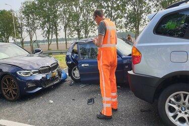 Zeven auto's betrokken bij ongeval op A7