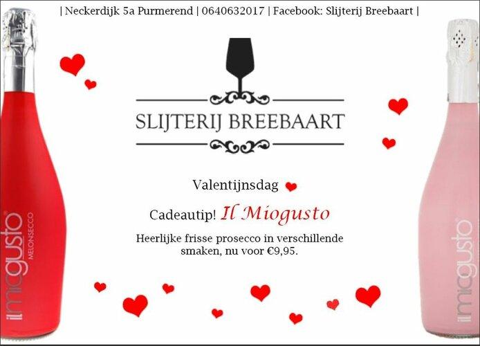 Valentijnsdag bij Slijterij Breebaart