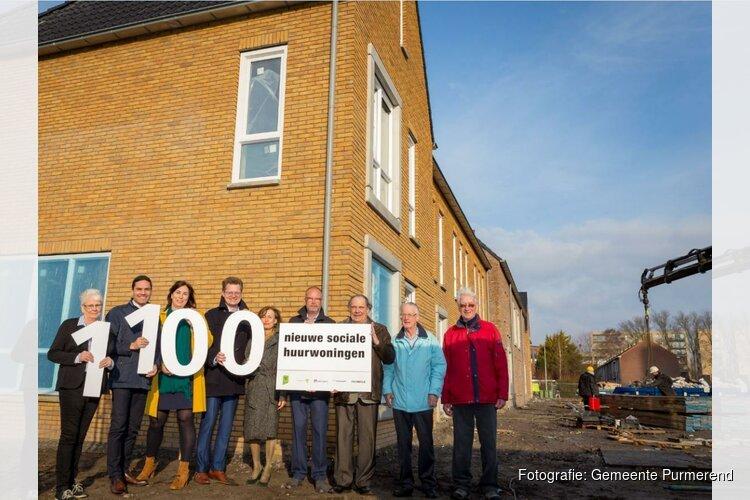 Purmerend krijgt 1100 nieuwe sociale huurwoningen