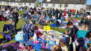 Bevrijdingsdag kindervrijmarkt in de Purmer-Zuid