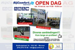 RijComfort RijOpleidingen en RijCheck Motoren organiseren samen een open dag!