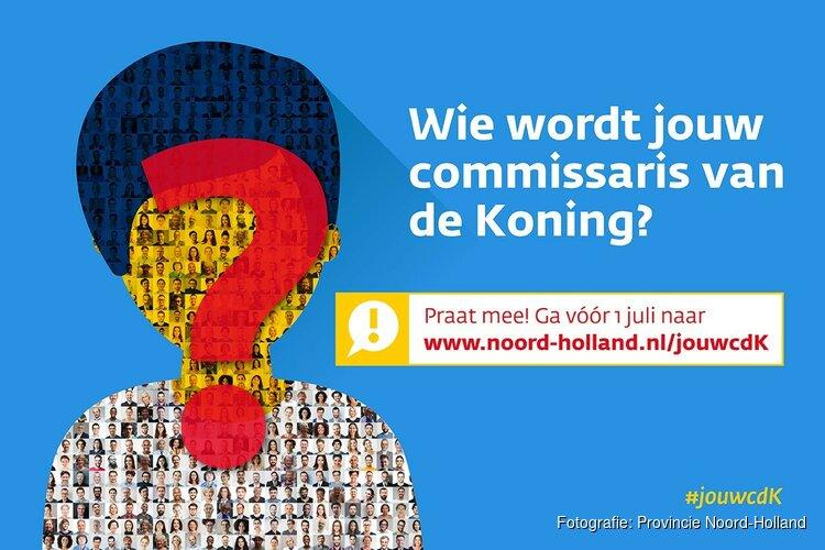 Noord-Hollanders praten mee over hun nieuwe commissaris van de Koning