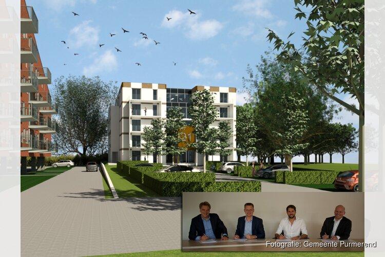 Handtekeningen gezet voor ontwikkeling appartementen Purmerweg
