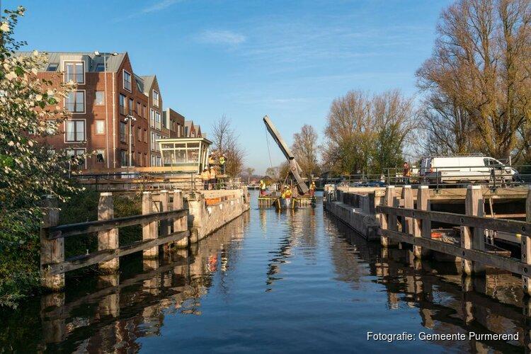 Brugval Hoornsebrug op zijn plek