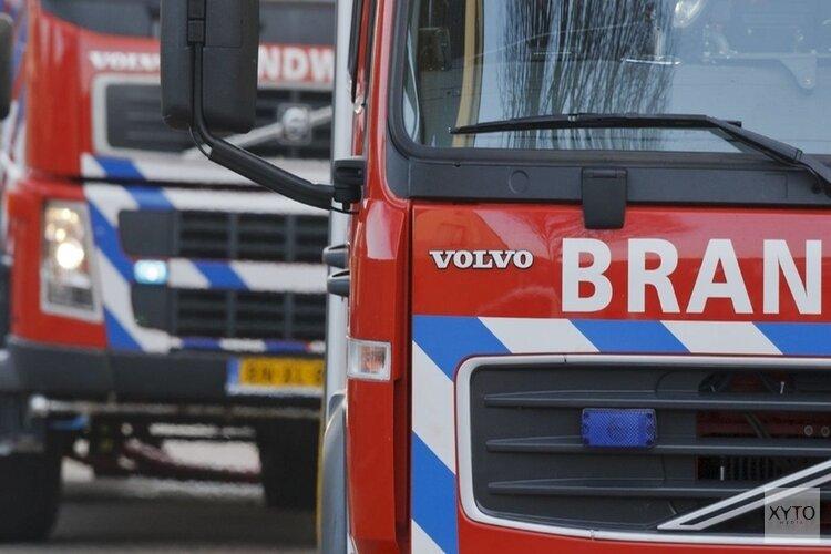 Auto in brand, bestuurder komt met schrik vrij