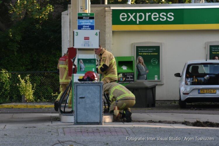 Lekkage bij benzinepomp Purmerend