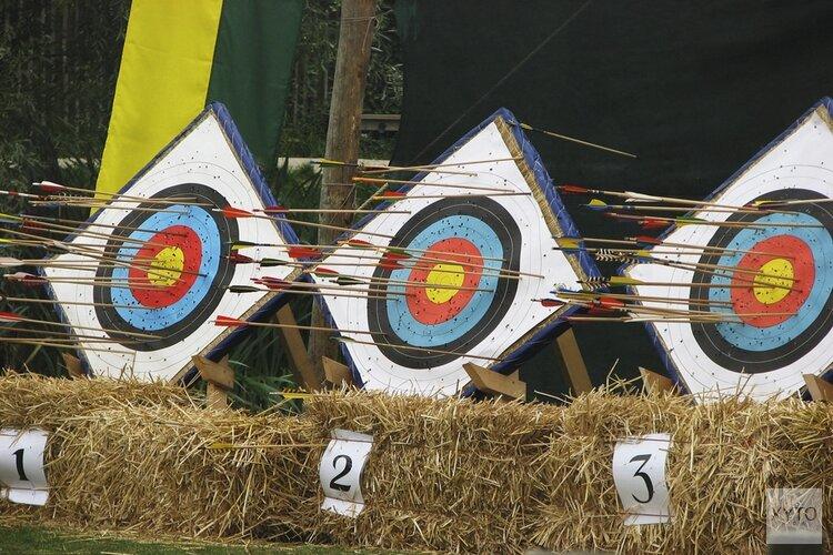 Finale internationale competitie handboogschieten Lowlands Shootout in Purmerend