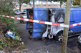 Brand in bedrijfsbus Schalmeistraat