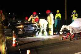 Automobilist uit auto geknipt